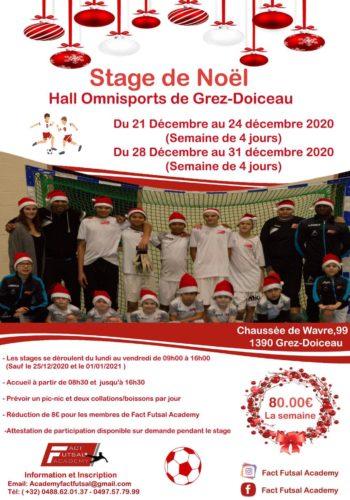 Stage de Noël 2020